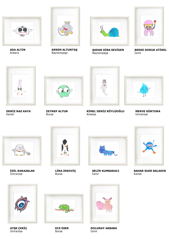 Çizim Yarışması Türkiye Finalistleri