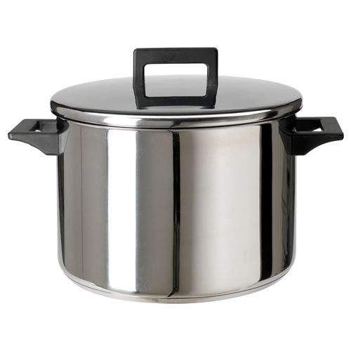 snitsig pot with lid stainless steel 8 5 lt ikea ikea for your business. Black Bedroom Furniture Sets. Home Design Ideas