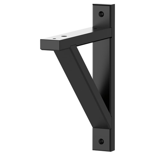 EKBY VALTER Shelf Bracket Black 18 Cm IKEA Hallway And Storage Solutions