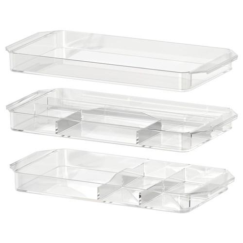 Ikea Schrank Rakke Gebraucht ~ GODMORGON çekmece düzenleyici şeffaf 34x17x3 cm  IKEA Banyolar