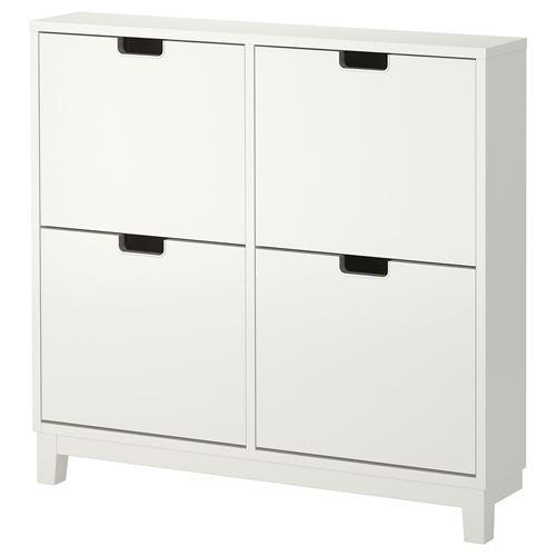 Stall shoe cabinet storage white 96x17x90 cm ikea hallway for Ikea stall shoe rack