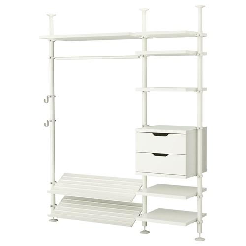 stolmen a k dolap beyaz 190x50x210 330 cm ikea yatak odalar. Black Bedroom Furniture Sets. Home Design Ideas