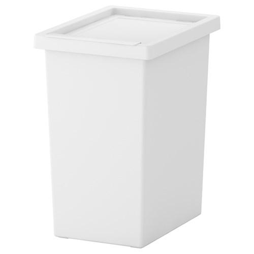 Filur kapakl kutu beyaz 28 lt ikea antre ve ardiye for Poubelle de cuisine ikea