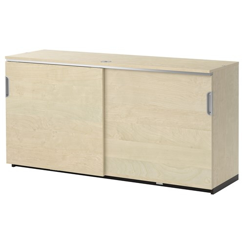 galant office cabinet birch veneer 160x80 cm ikea home office