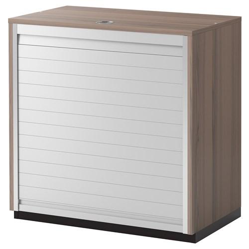 ... ofis dolabı gri-jaluzi kapak 80x80 cm  IKEA Çalışma Alanları