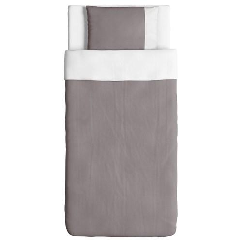 farglav tek ki ilik nevresim tak m gri beyaz 150x200 50x60 cm ikea t rkiye. Black Bedroom Furniture Sets. Home Design Ideas