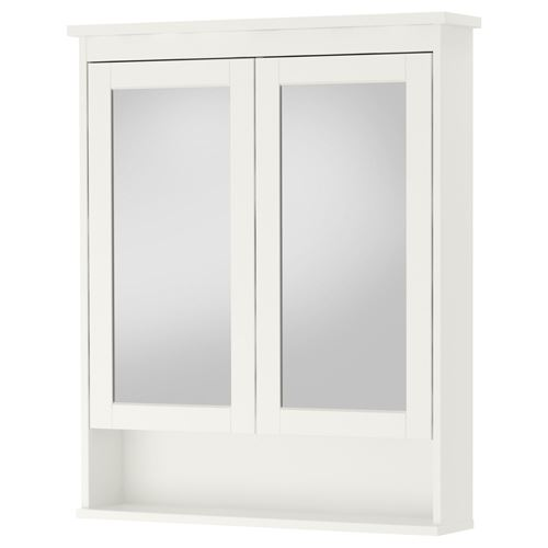 hemnes mirror cabinet white 83x16x98 cm ikea bathroom. Black Bedroom Furniture Sets. Home Design Ideas