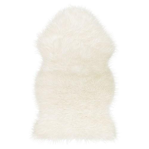 Ikea Sheepskin Rug Large: TEJN Koyun Postu Beyaz 100x60 Cm