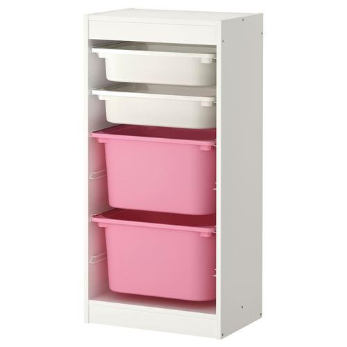 TROFAST saklama ünitesi beyazpembe 46x30x94 cm  IKEA