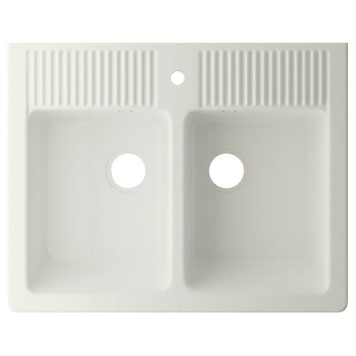 Domsj ift g zl eviye beyaz 83x66 cm ikea mutfaklar - Evier ceramique ikea ...