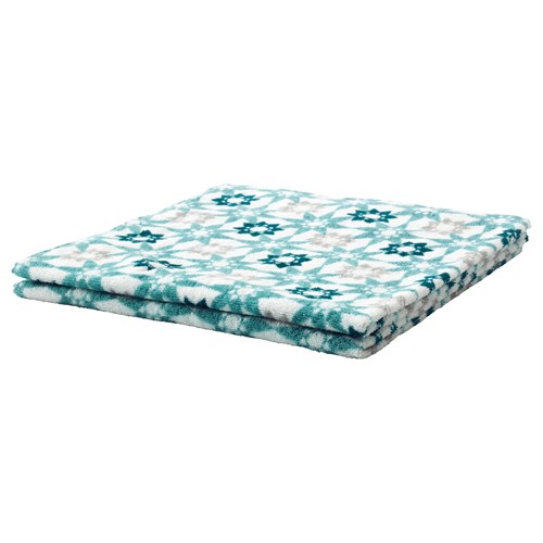 ingeborg banyo havlusu beyaz turkuaz 70x140 cm ikea. Black Bedroom Furniture Sets. Home Design Ideas