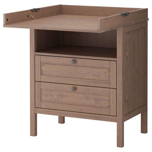 Sundvik Changing Table Cabinet Grey Brown Ikea Children