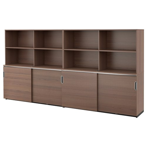 Galant Office Cabinet Gray Sliding Door 320x160 Cm Ikea
