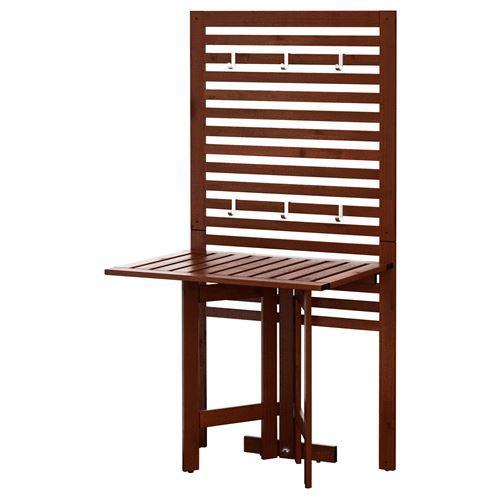 Applar duvar paneli seti kahverengi 80x62x158 cm ikea - Table pliante pour balcon ikea ...