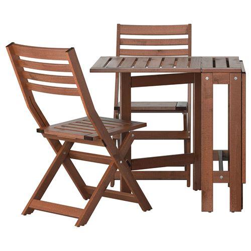 Applar katlanabilir masa ve sandalye seti kahverengi for Tavolino da balcone ikea