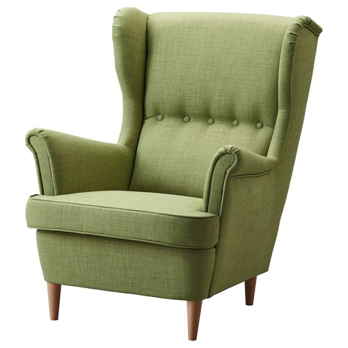 Strandmon armchair skiftebo green ikea living room for Armchairs for living room