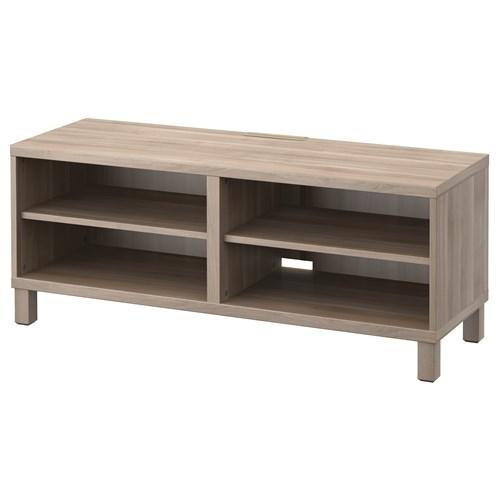 BESTA tv sehpası gri boyalı ceviz görünümlü 120x40x48 cm  IKEA TVDolap Sist -> Meuble Tv In English