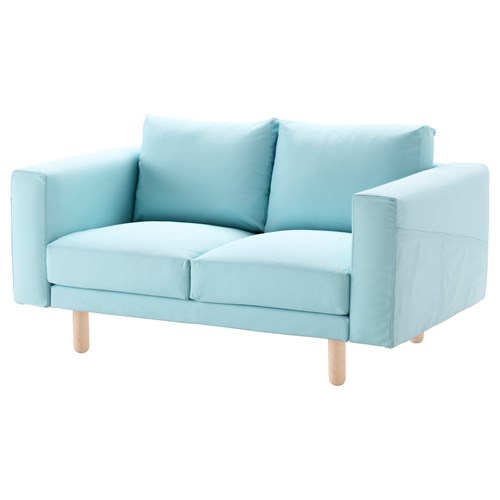 Norsborg 2 seat sofa edum light blue birch ikea living room for Sofa jugendzimmer ikea