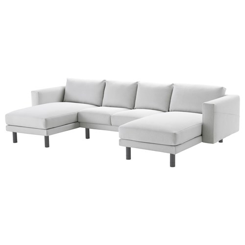 norsborg 2 chaise longues and 2 seat sofa finnsta white grey ikea living room. Black Bedroom Furniture Sets. Home Design Ideas