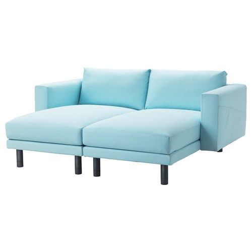 Norsborg 2 seat chaise longue edum light blue grey ikea for Blue chaise longue