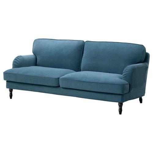 STOCKSUND 3 seat Sofa Ljungen Blue black wood IKEA Living Room