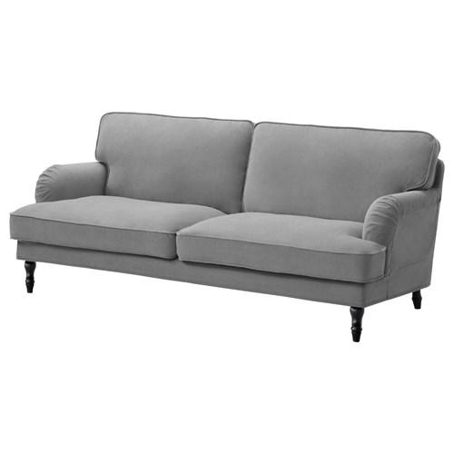 STOCKSUND 3-seat Sofa Ljungen Grey/black/wood