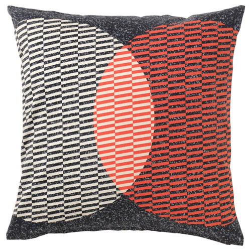 varl k cushion cover orange black 50x50 cm ikea home textile. Black Bedroom Furniture Sets. Home Design Ideas