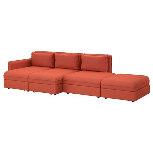 VALLENTUNA 4 Seat Sofa Bed Orrsta Orange