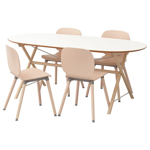 dining table and chairs white birch 185 cm ikea ikea for your