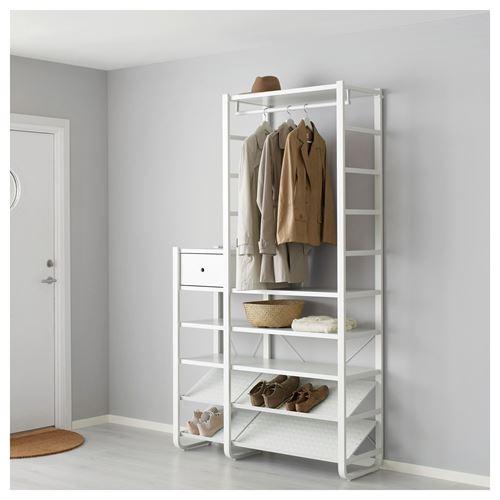 ELVARLI hallway wardrobe white 125x40x216 cm | IKEA ...