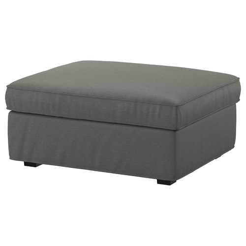 Kivik Footstool With Storage Borred Grey Green Ikea Living Room