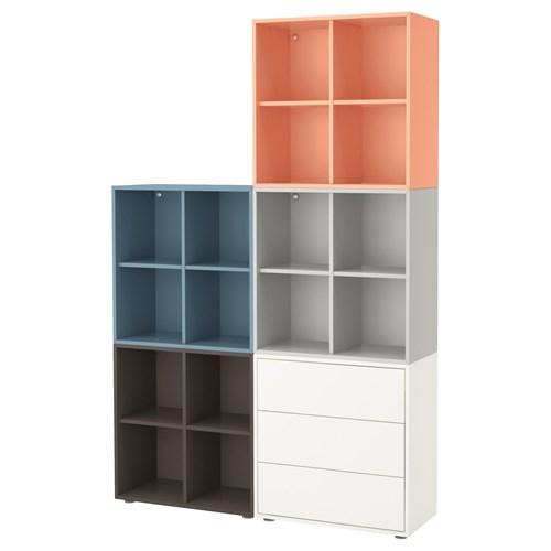 Eket Storage Combination Drawer Multicolour 2 140x35x212
