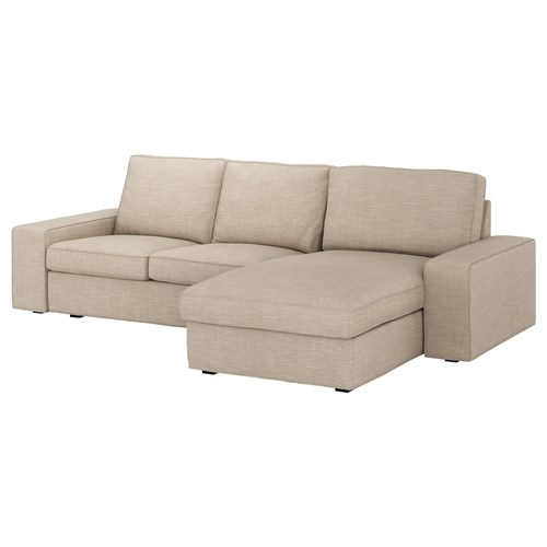 Kivik 2 seat sofa and chaise longue hillared beige ikea for Chaise longue seat