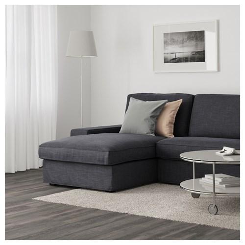 Kivik 3 seat sofa and chaise longue hillared anthracite for Chaise longue gris anthracite