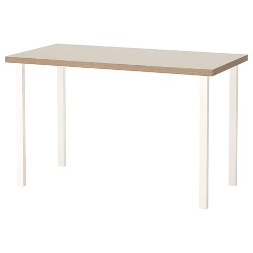 Linnmon godvin desk beige white 120x60 cm ikea home office for Hover tr table