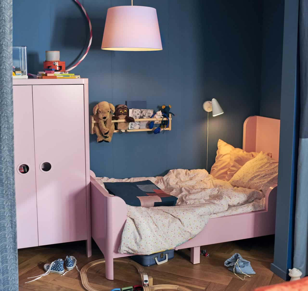 IKEA Ideas - A colourful and cosy small space for two