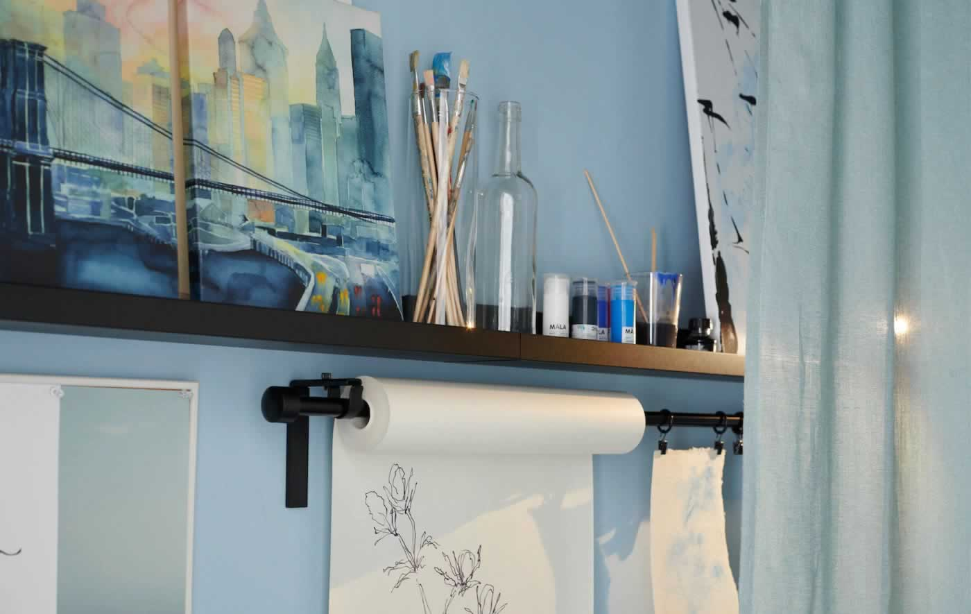 IKEA Ideas - Create an on/off hobby wall