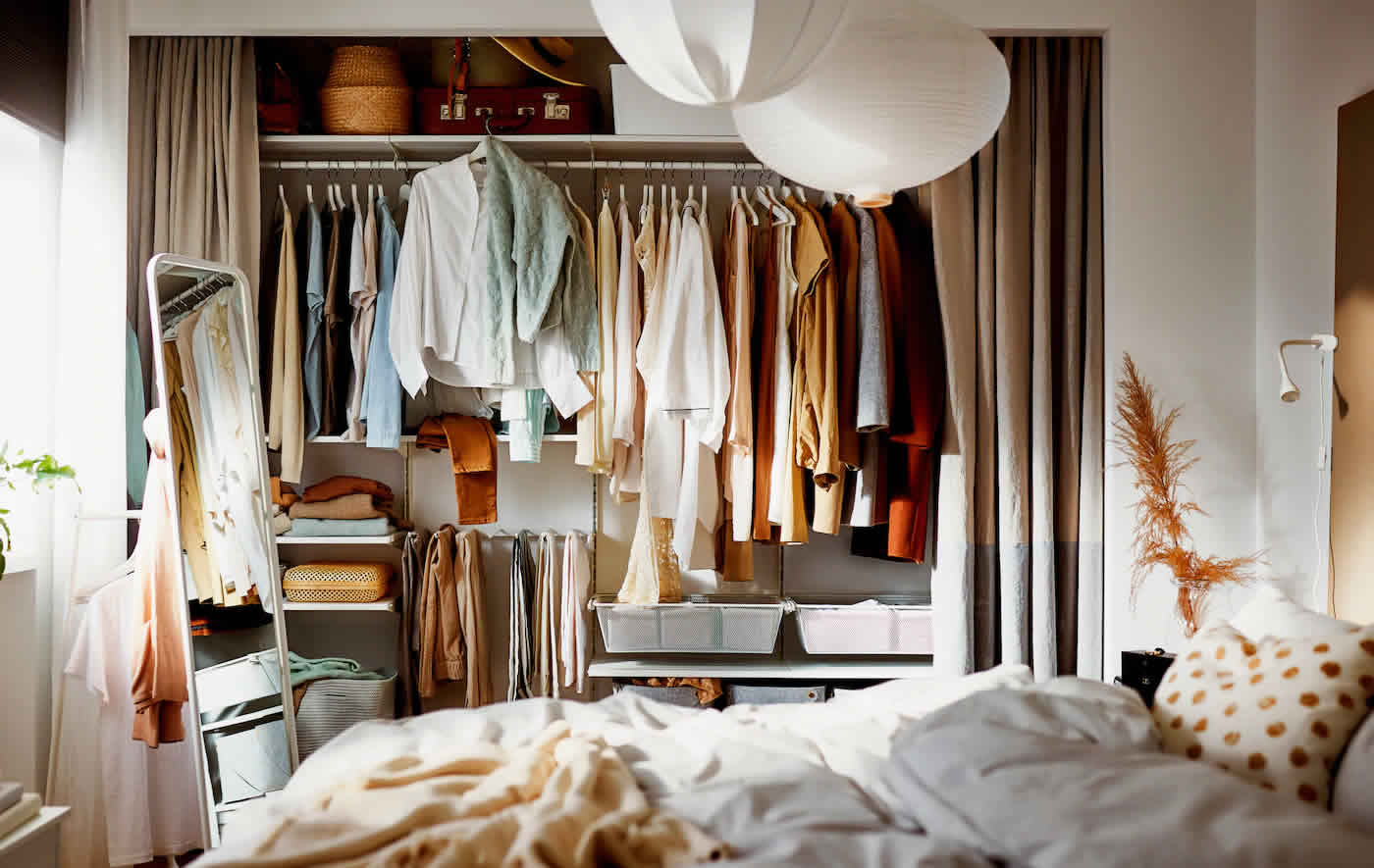 IKEA Ideas - Storing your style: easy wardrobe organisation ideas