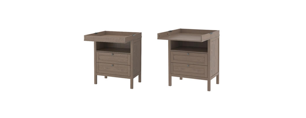 Recall for repair service action  of SUNDVIK changing table/chest due to fall risk