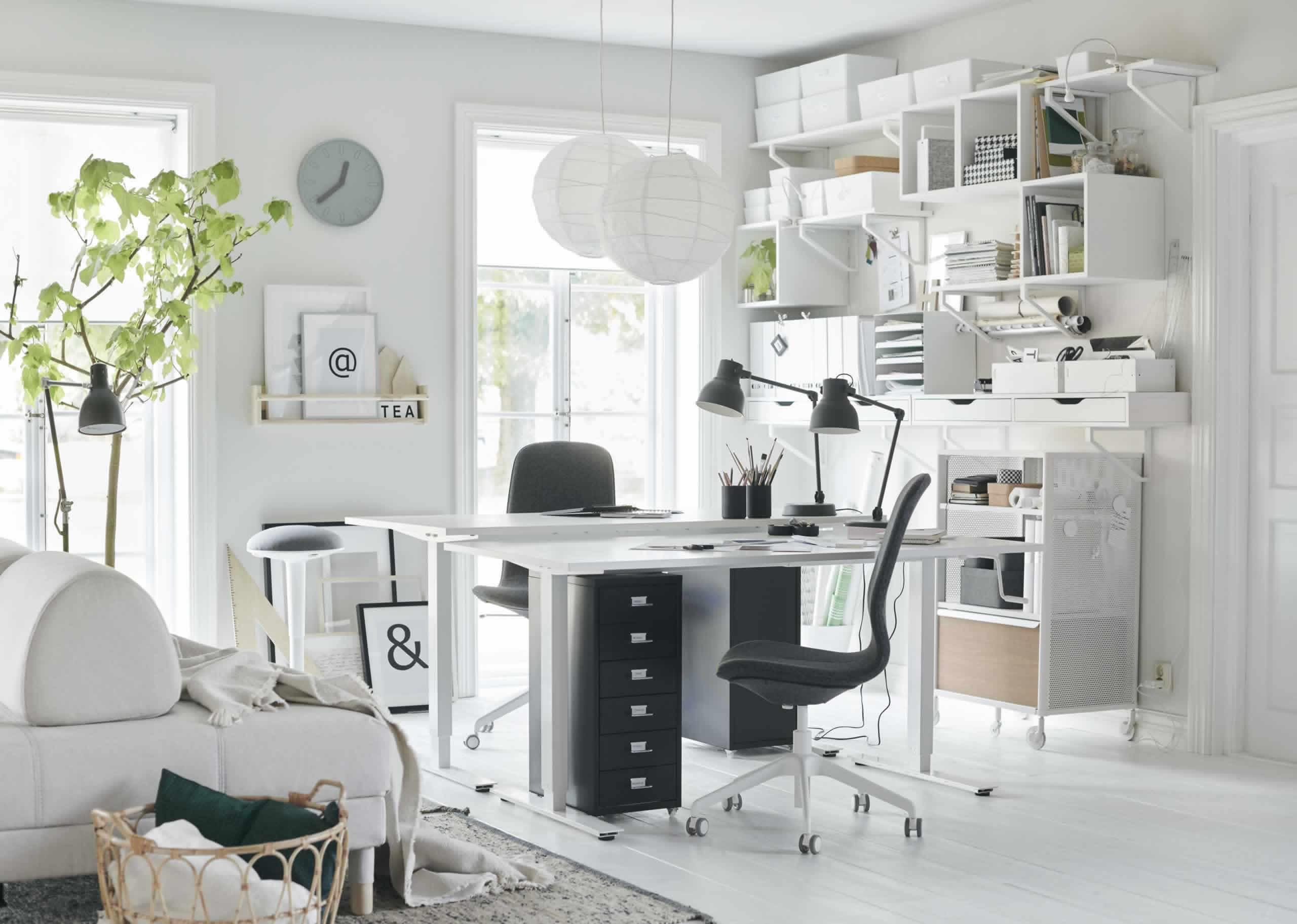 IKEA Ideas - A flexible home office in the living room