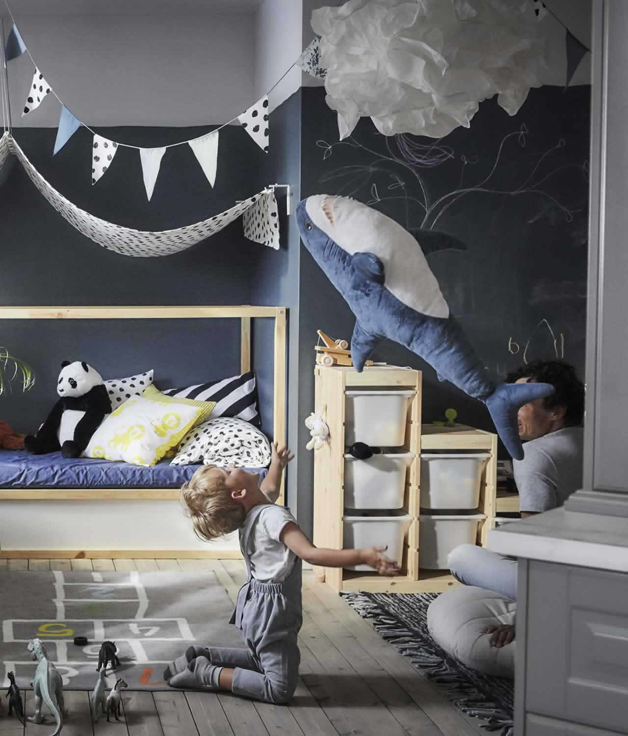 IKEA Ideas - A small-space home for big dude and little dude