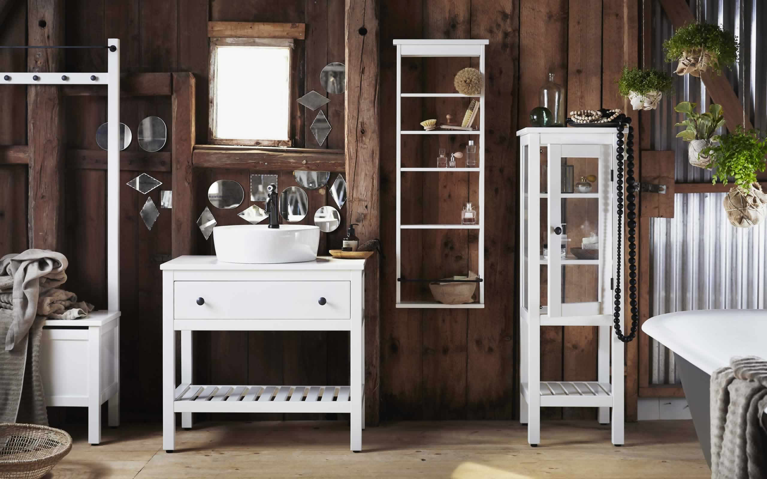 IKEA Ideas - Bathroom furniture designed to suit small spaces
