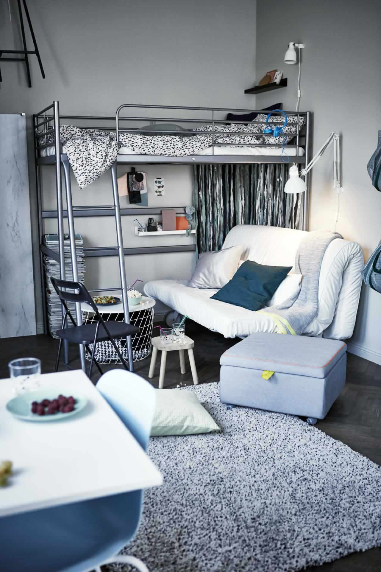 IKEA Ideas- Be ready for guests in a small space