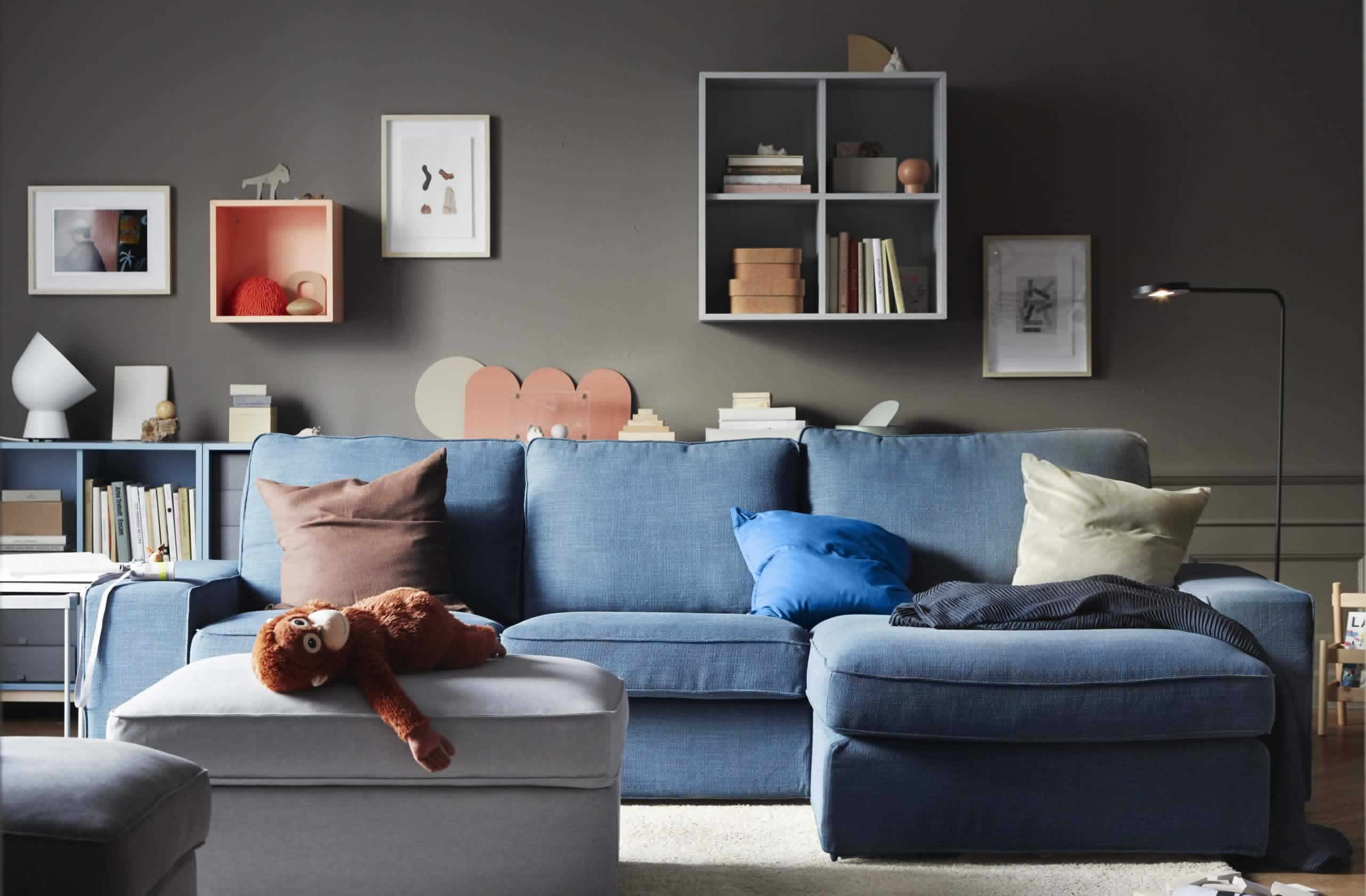 IKEA Ideas - A comfortable family room that works for everyone!