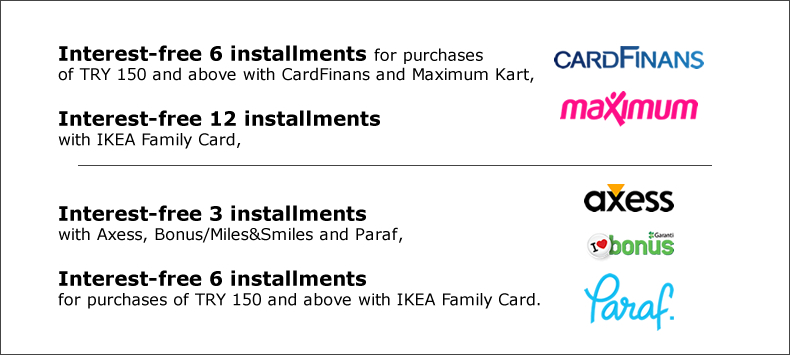 Payment options ikea turkey supplementary and business card payment options reheart Images