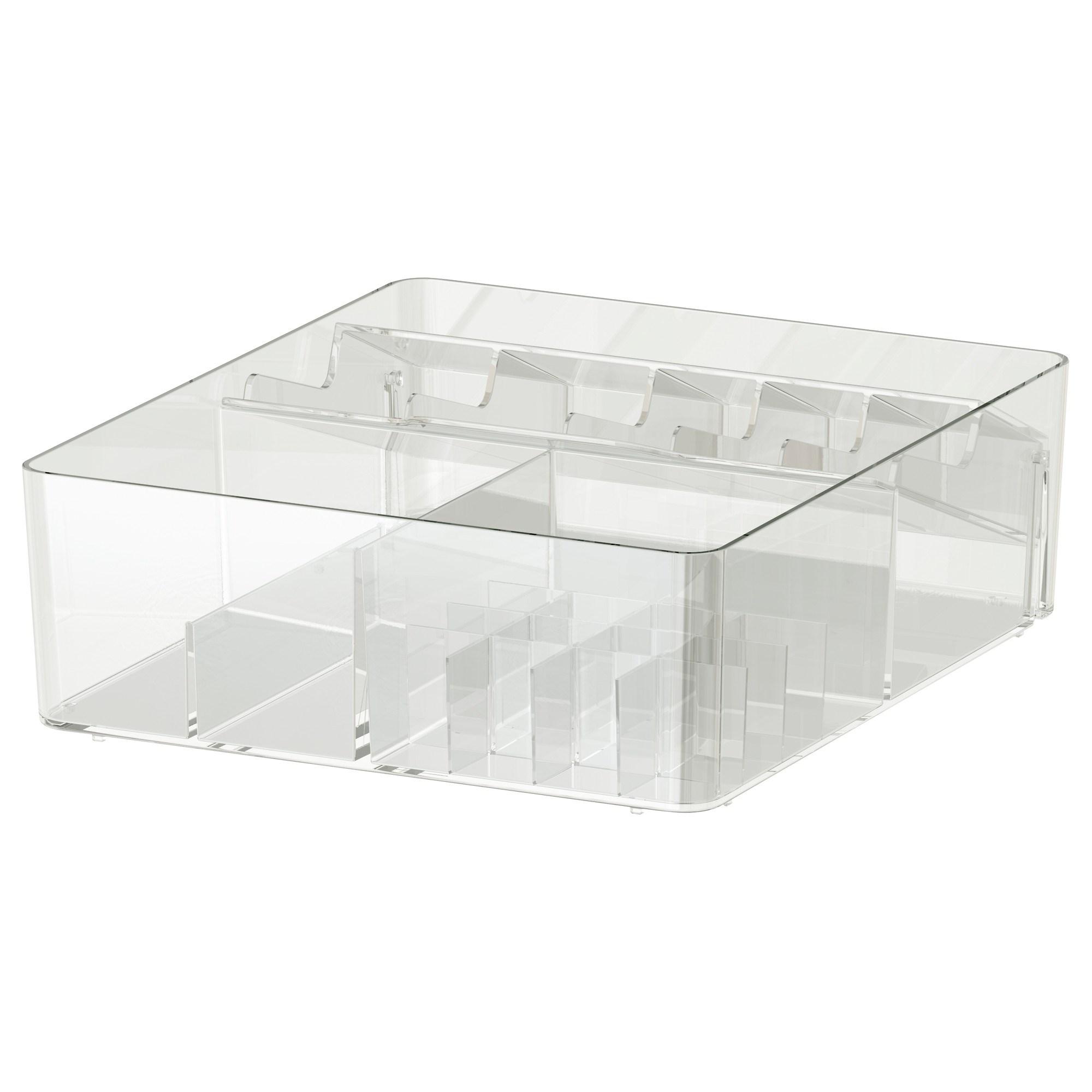 . GODMORGON kutu  effaf 32x28x10 cm   IKEA Banyolar