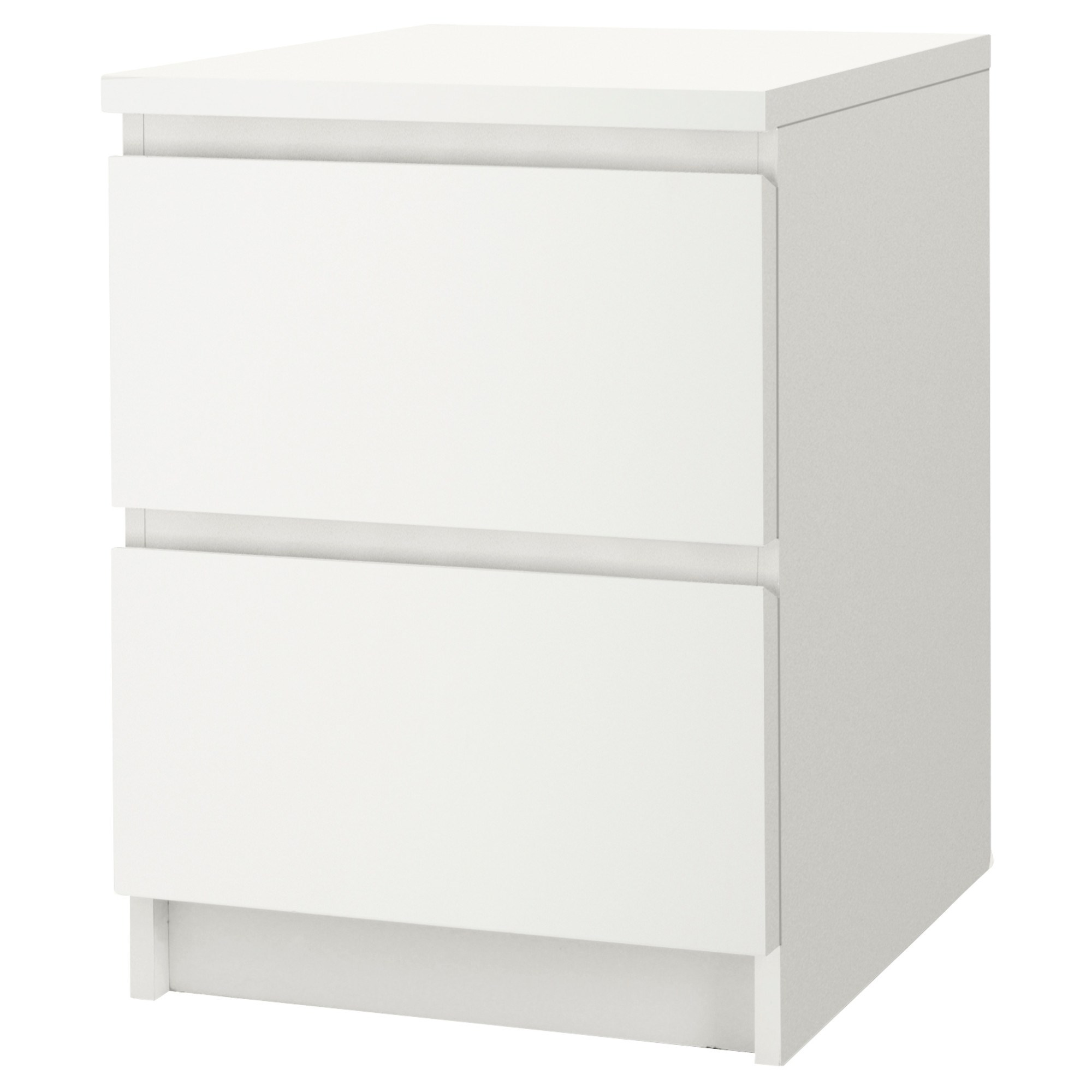 malm chest of 2 drawers bedside table white 40x55 cm ikea bedroom