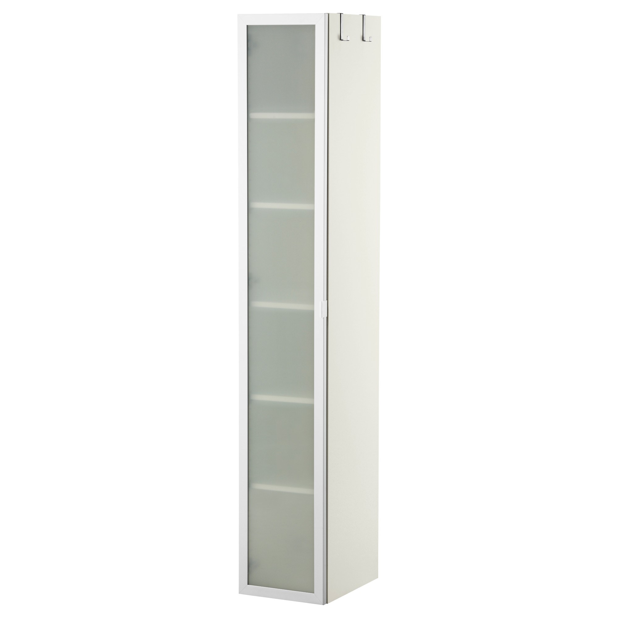LILLANGEN high cabinet white/aluminium 30x38x179 cm   IKEA Bathroom