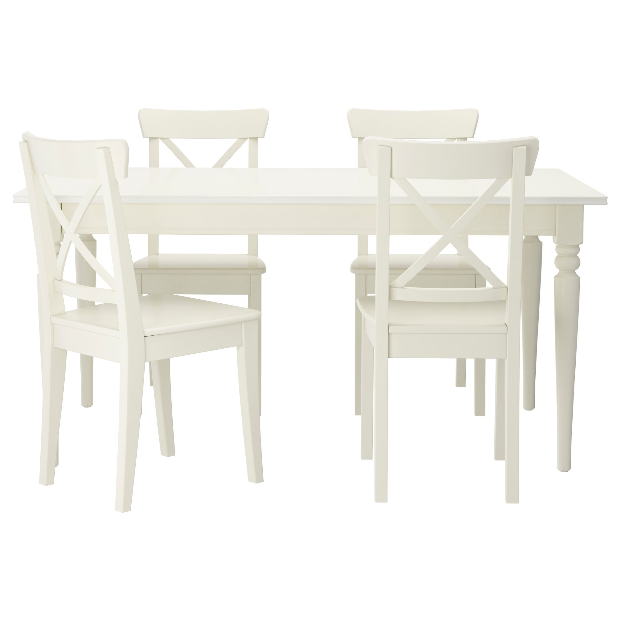Ingatorp dining table and chairs white 155 cm ikea kitchen