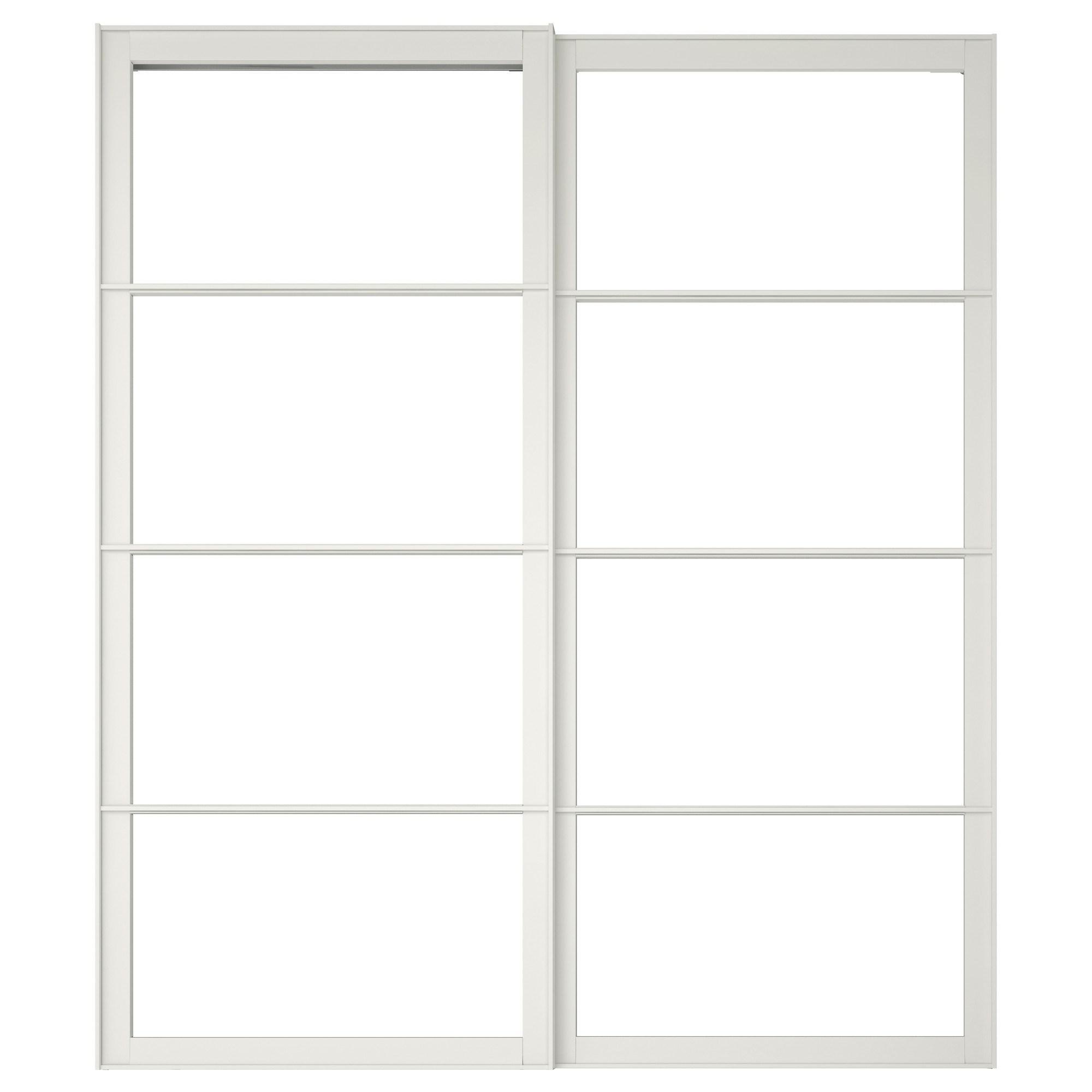 PAX pair of sliding door frames white 200x236 cm | IKEA Bedroom